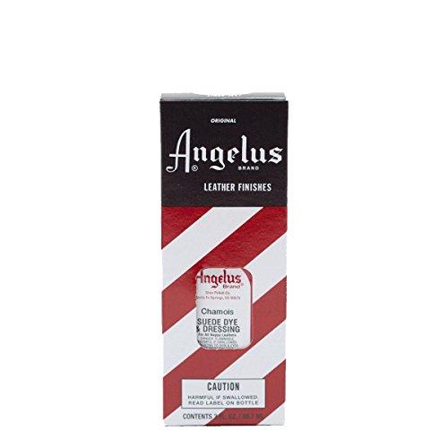 Chamois Wildleder (Angelus Suede Dye ist geeignet für Wildleder Nappaleder Nubukleder Leder färben Lederfarbe verschiedene Farben 88 ml (Chamois))