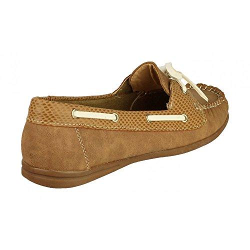 Divaz Womens/Ladies Belgravia Slip on Summer Flat Casual Shoes Brun Clair