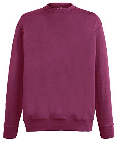 Fruit of the Loom Lightweight Set-in Sweatshirt - 14 Farben/Größe SML-2XL Burgundy