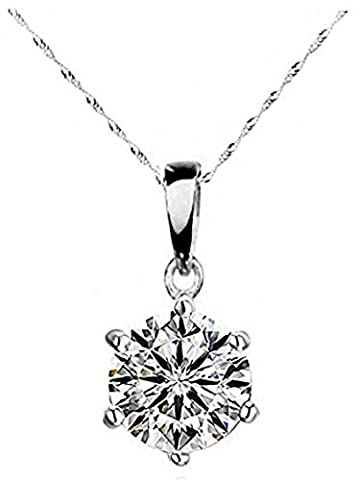 Laskey Swarovski Elements Sparkling Ladies 10mm Diamond necklace made with Austrian Crystal Black Friday Deal