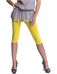 Lot de 2 leggings de sport en coton longueur 3/4, 16 différentes couleurs