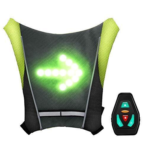 shenkey Gilet de Cyclisme à LED, Gilet réfléchissant à LED avec indicateur de Direction -...