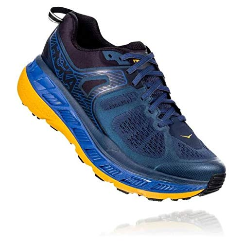 HOKA ONE One Challenger ATR 5 Deportivas Hombres Azul/Oro - 42 - Running/Trail
