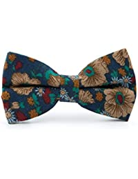 Mens Bow Cotton Print Bow Tie Single Piece European and American Vintage Floral