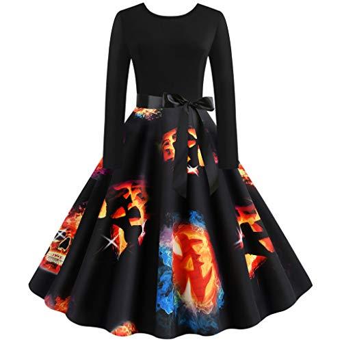 Hunde Pop Star Kostüm - GOKOMO Halloween Damen Rockabilly Kleid Elegante