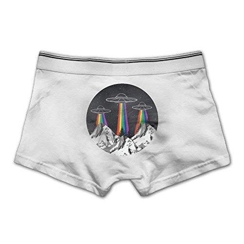 214946b8a Rainbow UFO Gay Pride Men s Seamless Boxer Brief Breathable Underwear X -Large