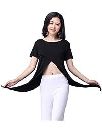 YiiJee Mujer Belly Dance Ropa de alto rendimiento Danza del Vientre Tops Oriental Costume