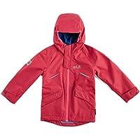 Jack Wolfskin Veste de protection météo respirante en matériau léger, solide, Azalée Red, 92