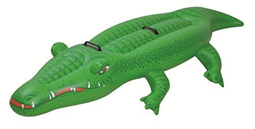 Wave Pool Float (200 cm X 68 cm Kids Inflatable Rider Ride On Crocodile Swimming Pool Float Toy by Suas International)