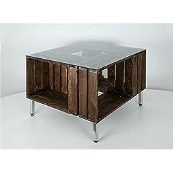 Mesa cajas de madera