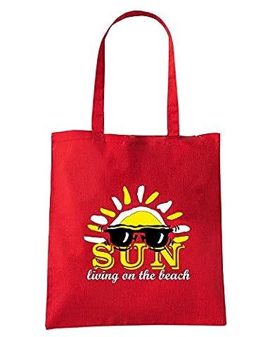 Cotton Island - Sac shopping T0312 sun living on the beach vintage, Taille Capacita 10 litri