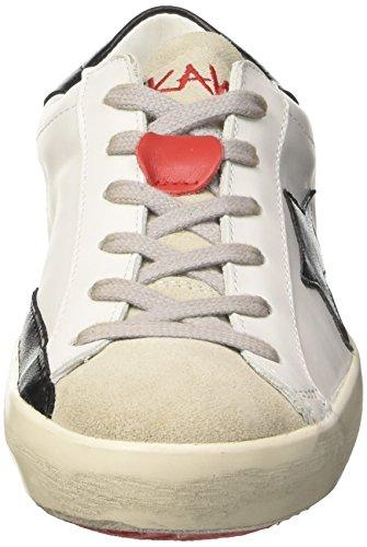 ISHIKAWA Unisex-Erwachsene Low Niedrige Sneaker Bianco