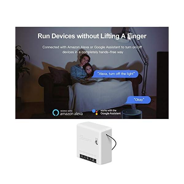 OWSOO-2PCS-Interruttore-SONOFF-MINI-Fai-da-te-Smart-Switch-Piccolo-corpo-Telecomando-Interruttore-WiFi-Supporto-Interruttore-esterno-Funziona-con-Google-HomeNest-IFTTT-e-Alexa