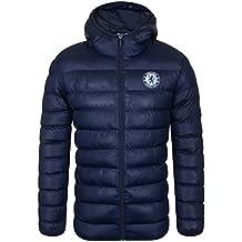 Chelsea FC - Plumífero acolchado oficial con capucha - Para hombre f4efc64fdebb9