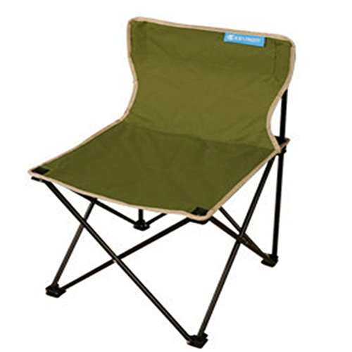 Campingstühle Leicht und Langlebig Camping Stuhl 600D Dickes Oxford Tuch Angelstühle Geeignet Für Wandern Reisen Camping Beach BBQ, Grün