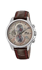 Lotus Watches Reloj Cronógrafo para Hombre de Cuarzo con Correa en Cuero 18527/2