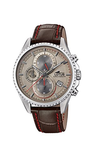Lotus Watches Homme Chronographe Quartz Montre avec Bracelet en Cuir 18527/2