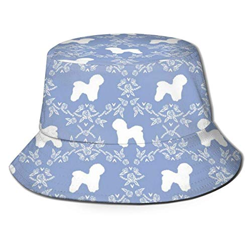 Molelanki Bichon Frise Floral Silhouette Dog Pattern