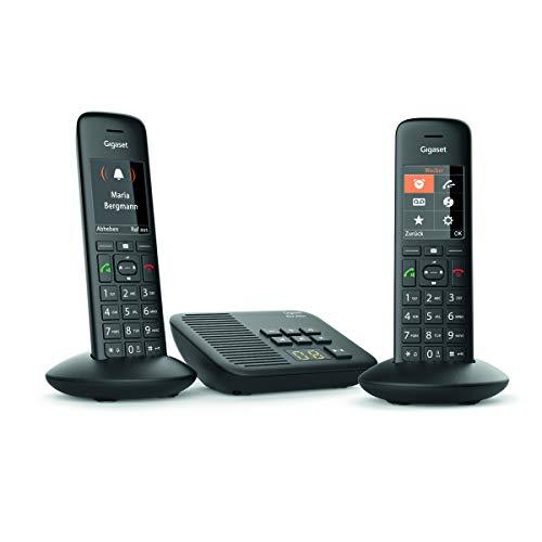 Gigaset C570A Duo - 2 Schnurlostelefone mit Anrufbeantworter - DECT-Telefone mit Farbdisplay - Komfort-Telefone mit großer Nummernanzeige - einfache Bedienung - schwarz