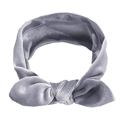 Amphia - Kinder Mädchen Baby Turban Festes Stirnband Haar Verknotet Pleuche Zubehör Headwear - Umfang: 37 cm / 18,5