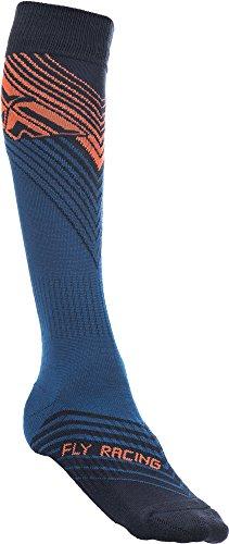 Fly Racing Motocross & Mountainbike Socken dünn MX blau-orange-schwarz MX & MTB Socks S/M