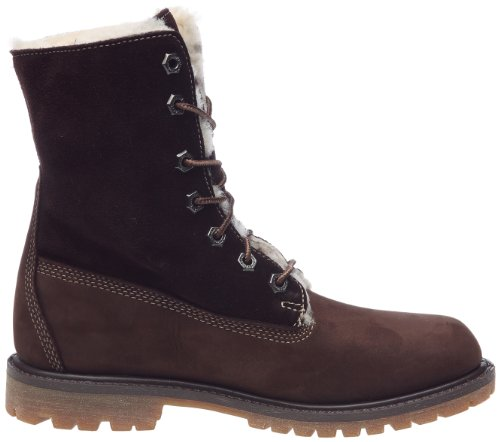 Timberland Authentics Shearling Fold Down Boot, Boots femme Marron