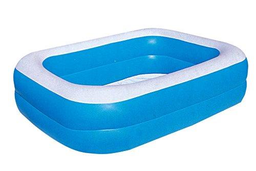 Preisvergleich Produktbild FAMILY POOL Planschbecken BESTWAY 2-Ring blau 201 x 150 cm