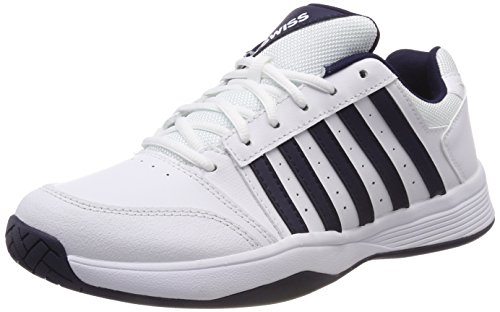 K-Swiss Performance Court Smash, Scarpe da Tennis Uomo, Bianco (White/Navy 37) 42.5 EU