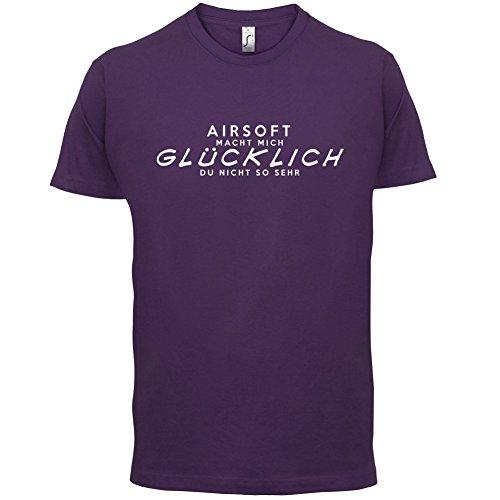 Airsoft macht mich glücklich - Herren T-Shirt - 13 Farben Lila
