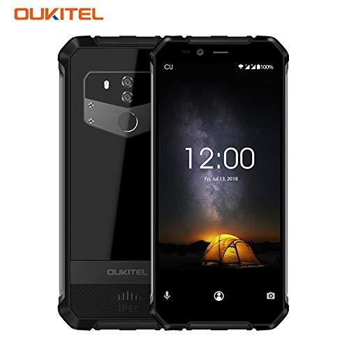 OUKITEL WP1 Dual SIM Outdoor Smartphone ohne Vertrag 5.5 Zoll Android 8.1 4GB RAM 64GB Handy IP68 Wasserdicht Stoßfest Staubdicht 13MP+0.3MP+5MP HD+ Robuste Handy WiFi Bluetooth GPS