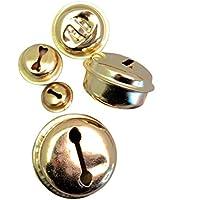Coaster 100 Laute cascabeles dorados de hierro, hierro, ...