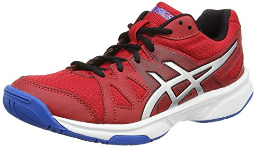 Asics Gel-upcourt Gs, Unisex-Erwachsene Volleyballschuhe, Rot (fiery Red/silver/electric Blue 2393), 39 EU