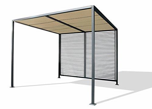 Leco Pavillon, Pergola Modern Style, anthrazit, B 2,80 x T 2,80 x H 2,11, 14340114