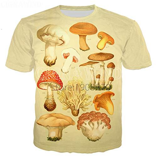 Zong&zoe Moda Popular Mushroom Collage Camiseta Hombres