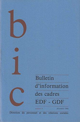 BIC EDF - GDF numéro 9 décembre 1988