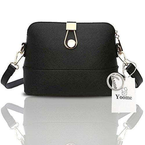 Sacchetti di frizione di fascino del sacchetto di lusso del Retro Retro Retro modello di Yoome per le ragazze casuali delle borse per le donne - azzurro Nero