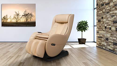 Massagesessel WELCON EASYRELAXX BEIGE mit Wärmefunktion - Massagestuhl mit Neigungsverstellung elektrisch, Automatikprogramme Knetmassage Klopfmassage Rollenmassage Airbagmassage Sessel Massagestuhl