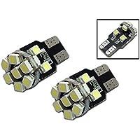 Nolunt(TM) 2pcs / lot T10 bianco 13 SMD 5050 LED della targa di immatricolazione luci auto W5W 13SMD