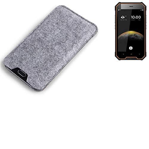 K-S-Trade Filz Schutz Hülle für Blackview BV4000 Schutzhülle Filztasche Filz Tasche Case Sleeve Handyhülle Filzhülle grau