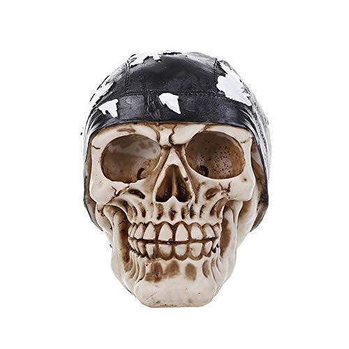 ZHZX Kopftuch Schädel Dekor, handgemachte Kunstharz Skulptur, Anti verblassen und langlebig, für Hauptdekoration Halloween Ornament (Den Tod Bedeutet Halloween)