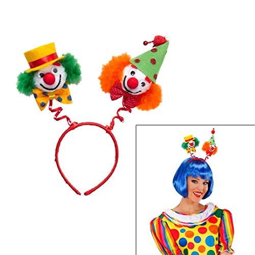 Kostüm Zubehör Komiker Der - NET TOYS Clown Haarreif Zirkus Kopfschmuck grün-orange Harlekin Fasching Haarreifen Komiker Kopfbügel Clownkostüm Karneval Haarschmuck Kostüm Zubehör Accessoire