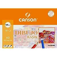 Canson 403159 - Papel para dibujo, 10 hojas, Multicolor, A3