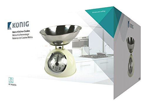 König HC-KS60CN Küchenwaage, Kunststoff / Stahl, mehrfarbig, 27 x 27 x 16 cm - 5