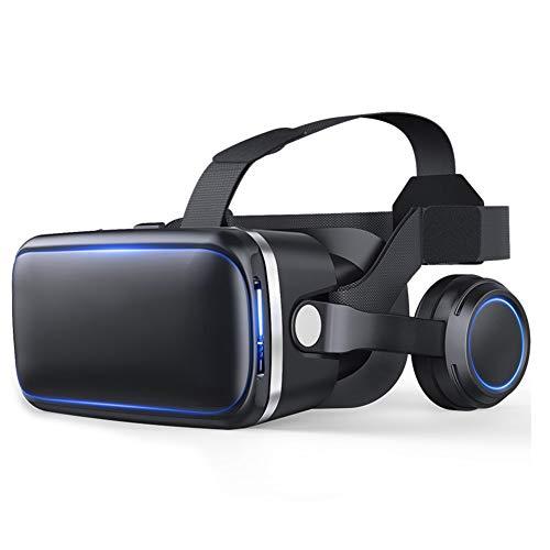 LSS 3D VR-Kopfhörer-virtuelles Realität-Glas-VR-Glas mit justierbarem Objektiv und Bügel für Smartphone 4.7-6.0 Zolls stützen androiden Gewinn und IOS-Schwarze Farbe(2er Pack)