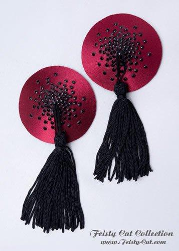 edle-strass-besetzte-pasties-mit-tassels-glam-o-rama-burgund-schwarz