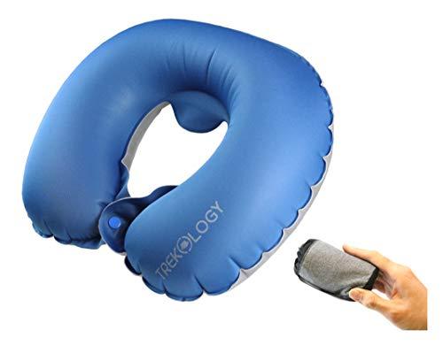 Trekology almohada inflable para avión, almohadas de viaje de cuello: almohadas compactas y portátiles...
