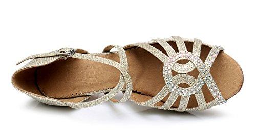TDA ,  Damen Peep Toes 6cm Gold