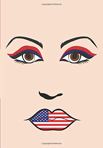 American Woman Notebook: US Flag Fashion Silhouette Design