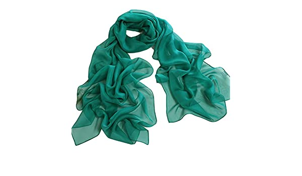 Homeofying Moda Donna Tinta Unita Lunga Sciarpa In Chiffon Leggero Collo Scialle Avvolgere Sciarpe Lunghe Grandi Sciarpe Grandi Per Le Donne Blu zaffiro