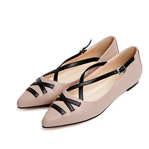 Coréen a fait plat et peu profond estuaire en chaussures de printemps/couleur correspondant chaussures/Casual chaussures femme B